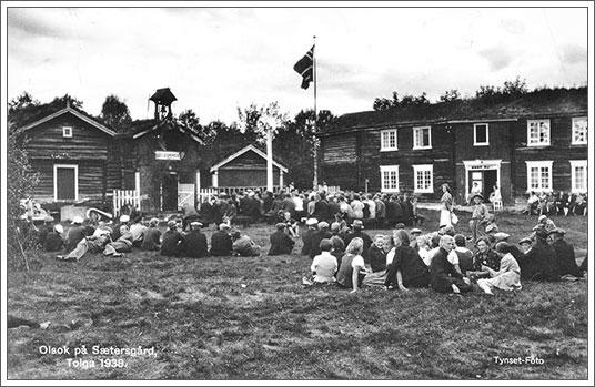 Postkort: Olsok på Sætersgård 1938. Tynset Foto.