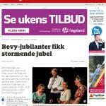 Østlendingen skriver om revyen i utgave 18.07.2015